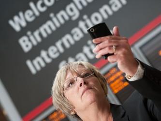 Mitie cleaning Birmingham International rail station.
