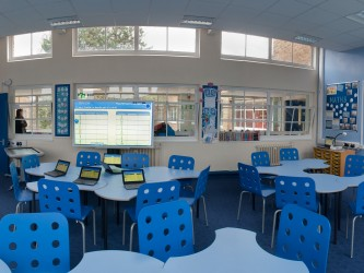 Smart classroom at Pheasey Park Farm Junior school. Great Barr.