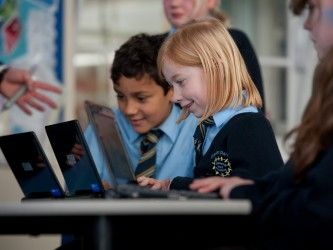 Smart classroom at Pheasey Park Farm Junior school. Great Barr.
